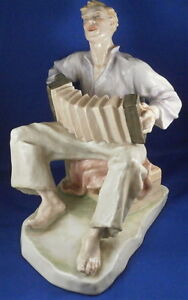 20thc Rosenthal Porcelaine Accordéon Joueur Figurine Figurine Porzellan Figur Hm6wqg45-07224712-252607041
