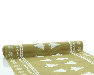 1-Tischlaeufer-White-Tree-in-Gold-aus-Linclass-Airlaid-40cm-x-4-80m-Weihnacht
