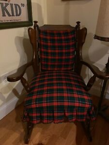 Antique-Vintage-Solid-Wood-Rocking-Chair