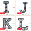 miniature 4 - Rhinestone Letter Patches Sew on Iron on Alphabet Patch Letters Embroidered A-Z