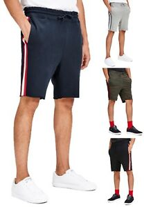 fb25181e61046 JACK & JONES New Mens Casual Tape Jogger Shorts Fleece Cotton Sport ...
