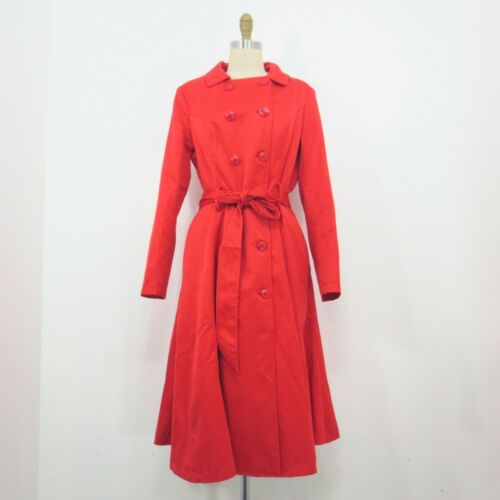 L - Collectif London Red Silky Korrina Retro 50s S