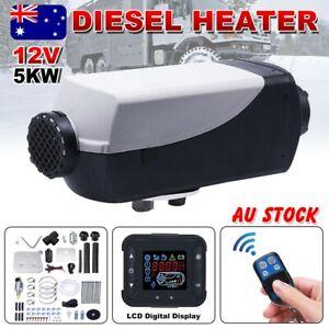 12V-5KW-Air-Diesel-Heater-Caravan-Motorhome-Trailer-RV-Thermostat-Remote-Control