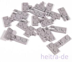 LEGO-10-x-Gelenkplatte-Scharnier-hellgrau-1x2-auf-2x1-44567-44302-NEUWARE
