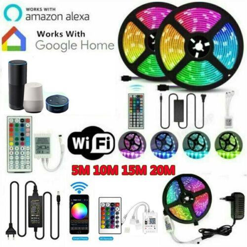24V RGB Led Streifen Stripe Wasserdicht 5-20m Leiste WiFi Controller Trafo 5050