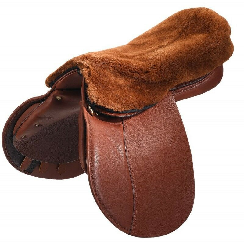 C.S.O. Saddle Seat Cover Made From Genuine Lambskin Saddle Saver Seat Fur Saddle Fur