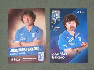 2x SPANIEN Jose Mari Bakero (Lech) Barcelona WM 90,94 EM 88 OHNE UNTERSCHRIFT