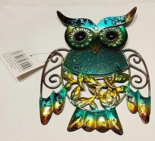 Decorative Metal Glittery Wall Art Owl Figurine Plaque Sign Home Decor Bird