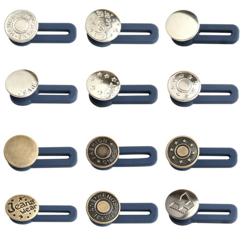 5PC Jeans Extendable Button Pants Waist Extension Extended Nail-Free Detachable