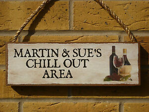 PERSONALISED-DRINKS-SIGN-CHILL-OUT-AREA-SIGN-GARDEN-SIGN-PATIO-SIGN-WEATHERPROOF