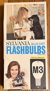 NOS Vintage Sylvania M3 Blue Dot Flashbulbs 12 Pack