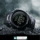 SKMEI Men Digital Outdoor Wristwatches World Time DST Compass Waterproof 50 M