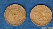 Monaco – 1 Franc Louis II 1924 Poissy 7 (éclair) TB TTB