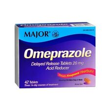 Major Omeprazole Delayed Release 20mg Tablet 42ct