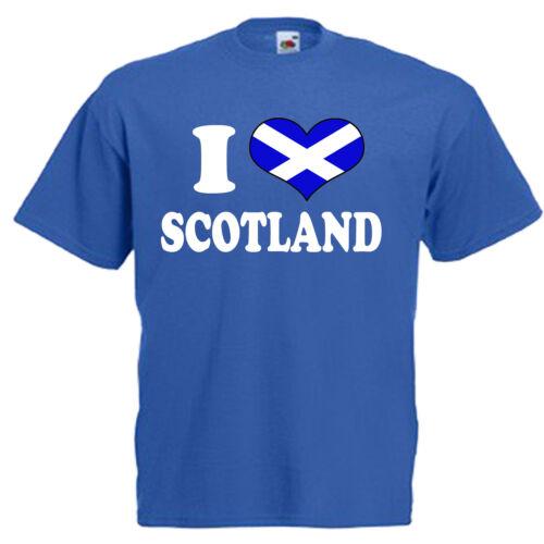 I Love Heart Scotland Children/'s Kids Childs T Shirt