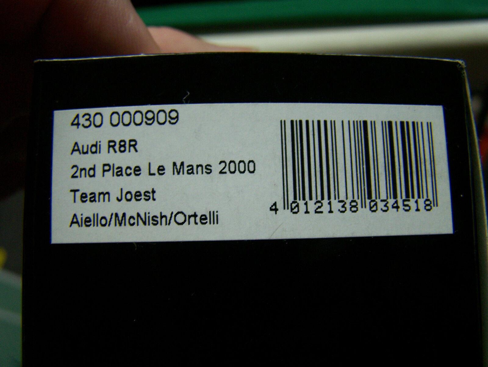 1 43    MiniChamps Audi R8S Le Mans 24 hrs 2000   MIB  L@@K  NICE 983186