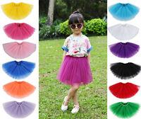 Baby Girls Classic 5 Layer Tulle Tutu Skirt Princess Dress W/ Elastic Waist
