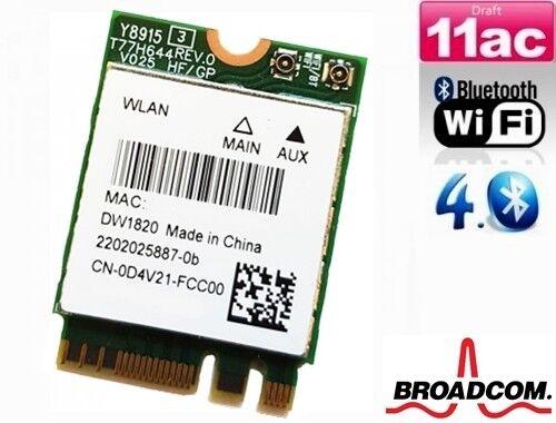 Adaptable + Dw 1820 Ac Qualcomm Qcnfa344a 867mbit/s Wlan + Bluetooth4.1 Pcie M.2 Ngff + Online Winkel