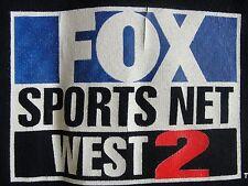 Fox Sports Net West 2 Henley T-Shirt Black 2XL Cable TV Promo Short Sleeves