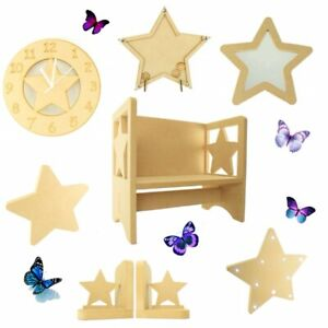 Appendiabiti Bambini.Childrens Wooden Star Themed Coat Hook Kids Toddlers Childs Nursery