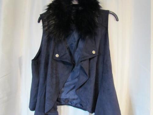Org Aftagelig Fur Navy Faux Inc 5 Concepts 2x 109 Collar International 689439717484 Nwt Vest 6w8Yxq