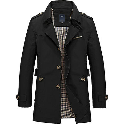Men's Winter Warm Long Trench Coat Jacket Slim Fit Smart Blazer Outwear jackets