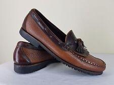 """Allen Edmonds """"Nashua"""" Men's 10 Two Tone Leather Slip On Loafer Kiltie Tassel"""