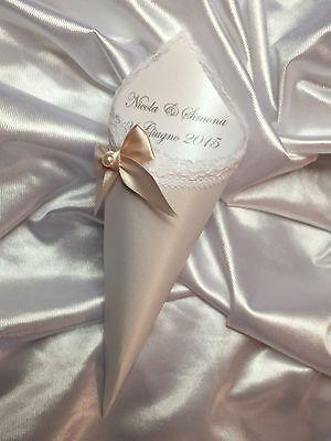 Set 30 Pz. Coni Portariso Porta Riso Confetti Confettata Matrimonio Sposi *Entra