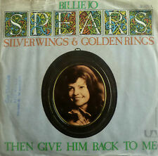 """7"""" 1975 RARE VG+ ! BILLIE JO SPEARS : Silver Wings And Golden Rings"""