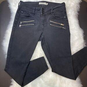 """Torrid Women's Black Denim Zippered Jeggings Jeans Size 14R Skinny 28.5"""" Inseam"""