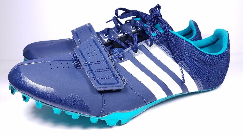 Adidas dimensioni 11,5 spuntoni spuntoni spuntoni adizero acceleratore traccia scarpa da corsa, bianco e blu s78629   Nuova voce  2e5c11
