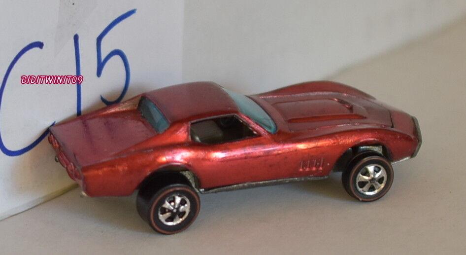 excelentes precios Hot Wheels rojoline 1967 a Medida Corvette Rojo Metálico Metálico Metálico Hong Kong Restaurado  Con 100% de calidad y servicio de% 100.