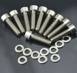 Spacer 10 Pieces M5x20mm Titanium Ti Allen Hex Socket Cap Head Bolts Screw
