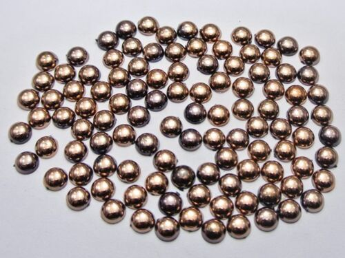 2000 Metálico Bronce Flatback Redondo Pequeño Media Perla 3mm Nail Art Craft