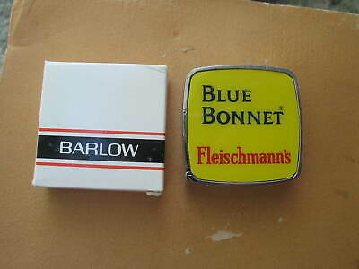 Vintage Blue Bonnet Fleischmann/'s advertising Barlow Tape Measure Pocket w//box