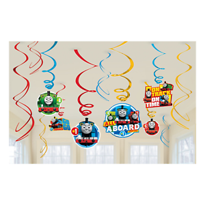 Thomas-the-Tank-Engine-amp-Friends-12-Hanging-Swirl-Decorations-by-AMSCAN
