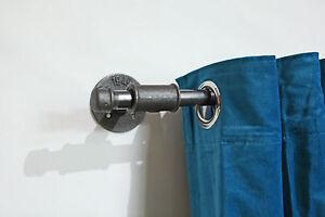 Gardinenstange-Vorhangstange-Industriedesign-Stahlrohr