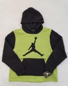 Details about NWT Nike Air Jordan Boys Pullover Hoodie Sweatshirt shirt Green Black Size large