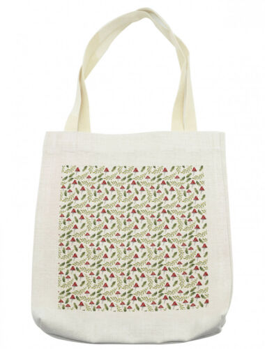 Ambesonne Mushroom Tote Bag Reusable Linen Sack Shopping Books Beach