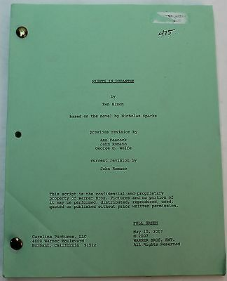 Nights In Rodanthe * 2007 Movie Script, Based on the novel by Nicholas Sparks