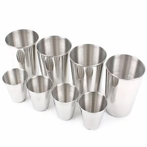 Stainless Steel Camping Cups Set 8p Tea Coffee Travel