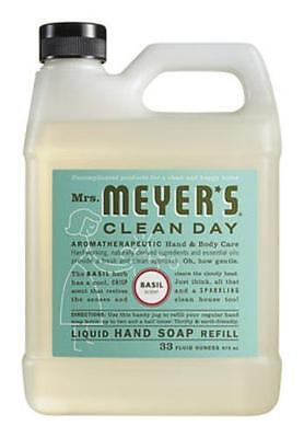 Mrs Meyers Clean Day 14163 Basil Scent Liquid Hand Soap Refill,