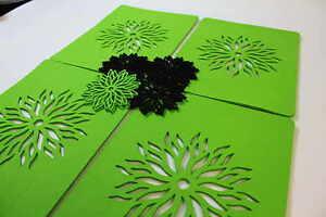 Placemats  Flower Blossom Art  Felt Table Mats Set of 2 Laser Cut