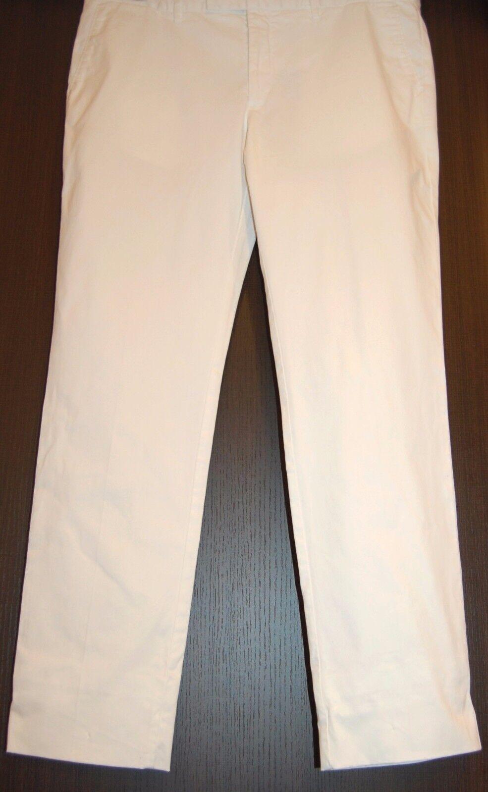 Emporio Armani White Cotton Men's Casual  Pants Trouser Sz US 40 UE 56