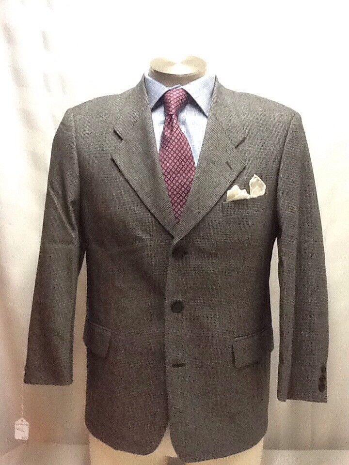 herren LORENZO salt & pepper 3 button klein check suit sz 40S