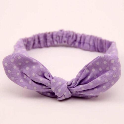 Toddler Baby Girls Rabbit Bow Headband Hairband Soft Elastic Headwrap Headdress