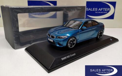 Original BMW miniature m2 f87 COUPE LONG BEACH BLUE bleu 1:18 modèle de collection