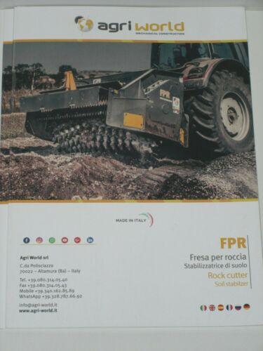 9119 rock cutter Prospekt agri world Steinfräsen