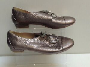 TED-BAKER-Womens-Silver-Leather-Lace-up-Shoes-Size-6