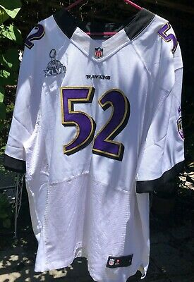 Nfl Nike Size 56 On Field Authentic Ray Lewis Baltimore Ravens Jersey Xvlii Bowl Ebay